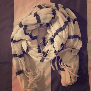 AERIE lightweight striped scarf - navy