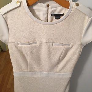 Armani Exchange Off White dress