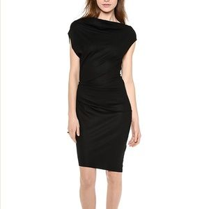 Helmut Lang Wool Asymmetrical Dress