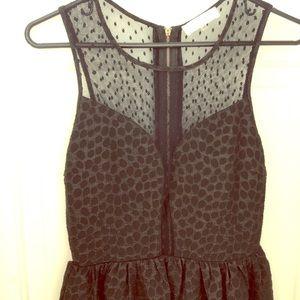 Black Textured Party Dress