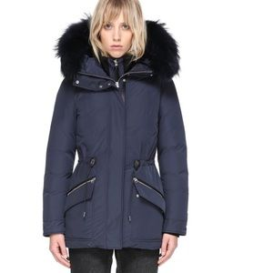 KATRYN HIP LENGHT WINTER DOWN JACKET WITH FUR