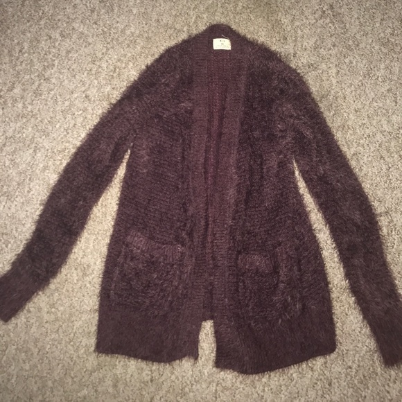 Urban Outfitters Sweaters - Soft and fuzzy purple cardigan