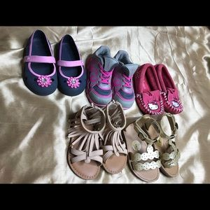 Toddler Girls Lot of Shoes