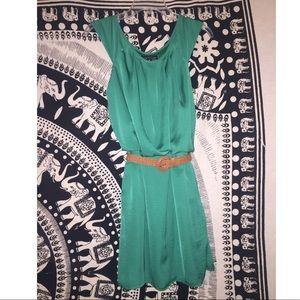 Emerald green modest dress