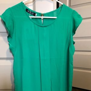 "Kelly Green ""Sheer"" Blouse"