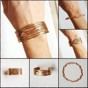 Jewelry - BOHO bundle of 3- hand crafted Copper Jasper Woven