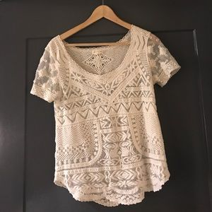Tops - Anthropologie boho lace top