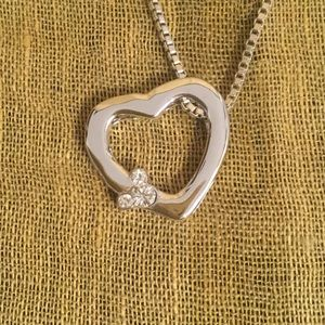 Mickey Mouse Heart Silver Necklace. WDW
