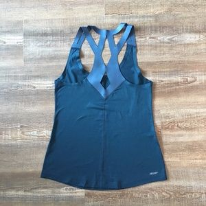 NEW BALANCE Teal Cross Back Solid Tank NWOT