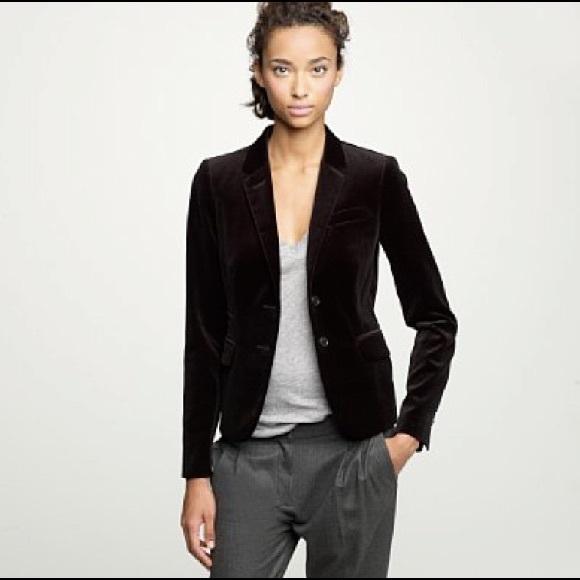 5ca582c24cd7c J. Crew Jackets & Coats | Jcrew Velvet School Boy Blazer Size 0p ...