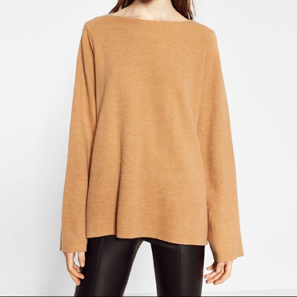 9d63e660 ZARA | Trafaluc Beige Sweater with Bell Sleeves. M_59dc42a4d14d7bf56f00b076