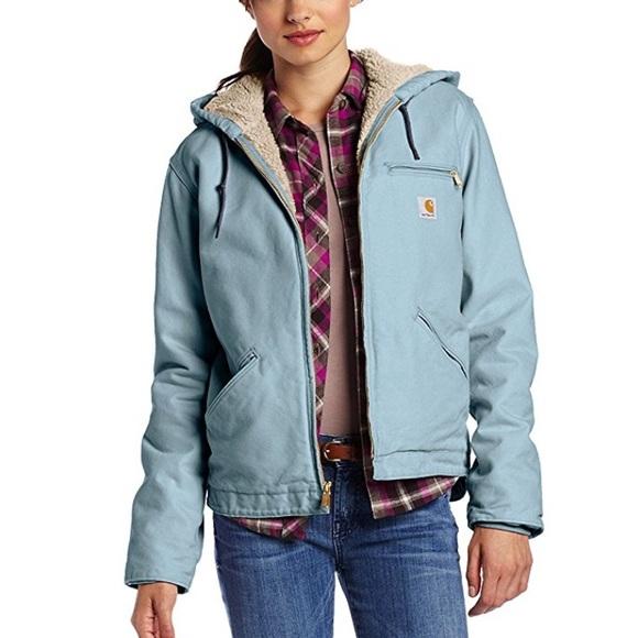 WJ141 Carhartt Sierra Women's Sherpa Sandstone Jacket Qrtshd