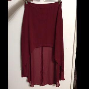 Chiffon high-low Skirt