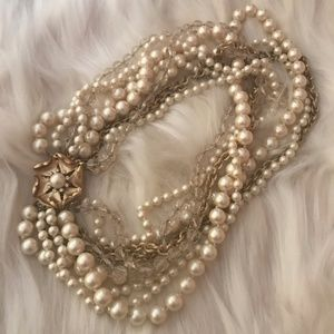 Stella & Dot Multi Strand Pearl Necklace