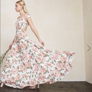 REFORMATION beautiful floral gown | brand new