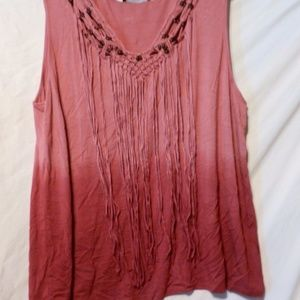 New Beaded Fringe Ombre Shirt Top 3X