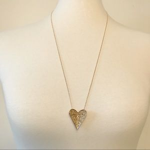 Rebecca Minkoff Folded Heart Rose Gold Necklace