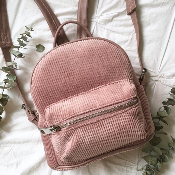 5b980c5a80 NWT Dusty Pink Corduroy Mini Backpack 