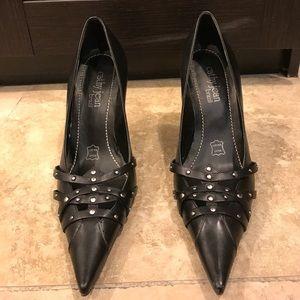 Studded black heels