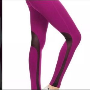 Pants - Pink black Mesh High Waist Workout Leggings
