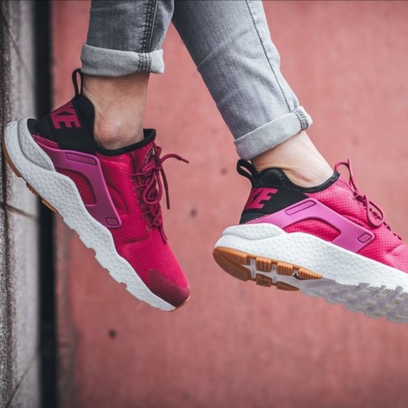 8be1ace08812 Nike Air Huarache Run Ultra Sport Fuchsia Black