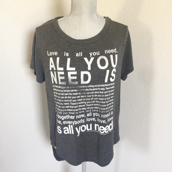purchase cheap 22d56 c8a4c Beatles All You Need Is Love T-Shirt