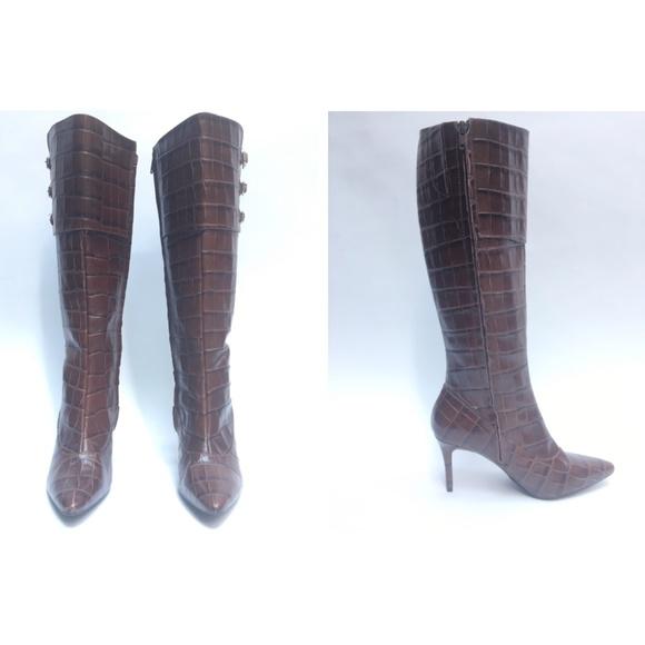 9a01665f9a3 Ralph Lauren Jennison Crocodile Knee Boots WBT5