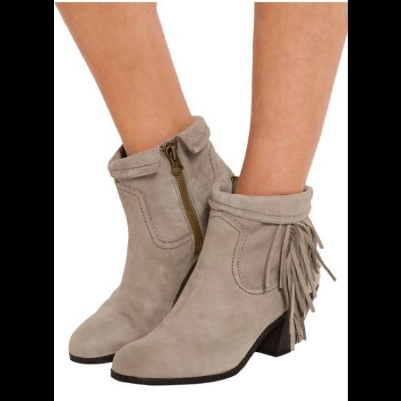 daf2eed64efc6 sam edelman fringe boots taupe louie zip 7 suede. M 59e7786813302a721508e59e