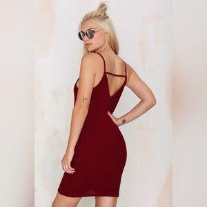 NEW Ribbed Back Strap Dress