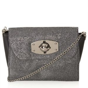 Topshop Glitter Winged Crossbody Bag in Metallic