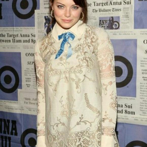 d428805b175   ANNA SUI   Cream Heirloom Lace Dress- BRAND NEW