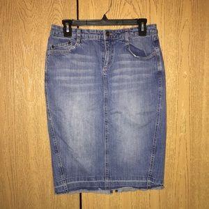 a.n.a. denim jean skirt