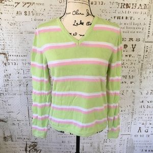Lilly Pulitzer striped cotton sweater sz M