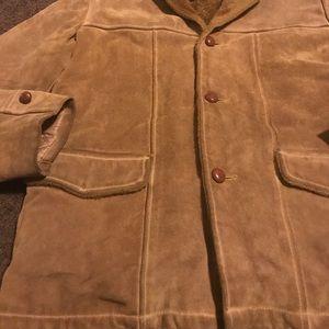 9be1f5d11 Vintage Oakbrook Sportswear Tan Suede Leather Coat