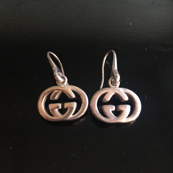3bd817a43e0 Gucci Jewelry - Gucci Sterling Silver Drop Earrings