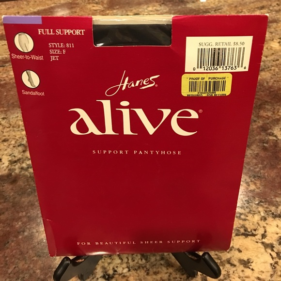 bc2e792635a Hanes ALIVE Full Support Sheer-to-Waist Pantyhose