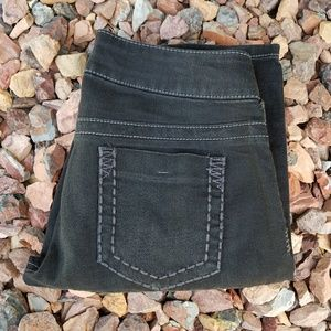 Maurices Distressed Black Jeggings