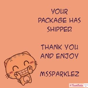 Your order has shipped. Thank you