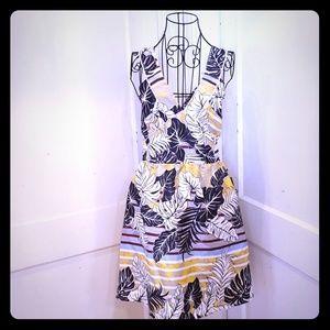 NWT H&M floral metallic backless dress Sz 12 & 14