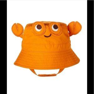 Baby Boy swim bucket sun hat w/strap upf 50+ crab