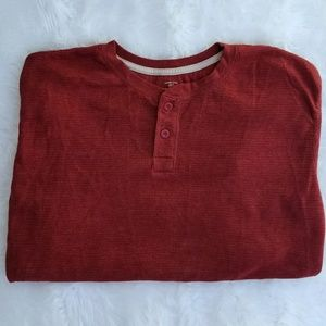 Plus size long sleeve tee, pullover