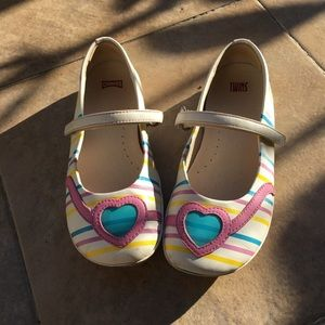 Camper girls Smooth leather twins glasses shoes