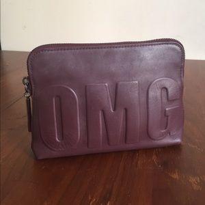 3.1 Phillip Lim OMG burgundy clutch pouch