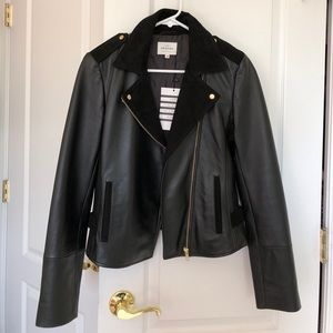Sezane Janis Leather Motorcycle Jacket
