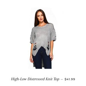 Tops - Distressed top NEW
