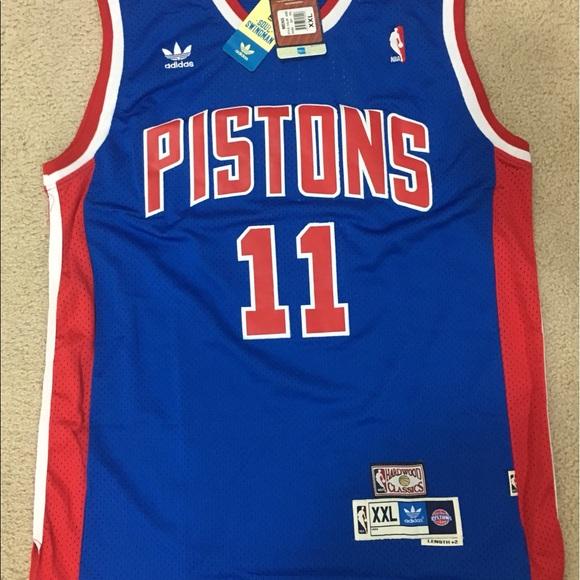 Adidas Throwback Detroit Pistons Isiah Thomas 2XL d80e4828e