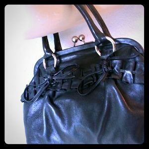 Cynthia Rowley Ruffle Leather Purse