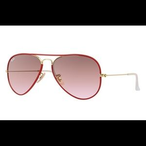 Ray-Ban Red Gold Aviator