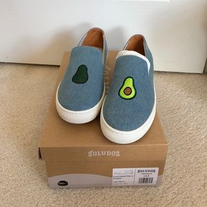 Soludos x Jason Polan avocado slip on 🥑 size 8