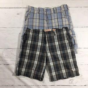 Lot of men's Plaid Shorts